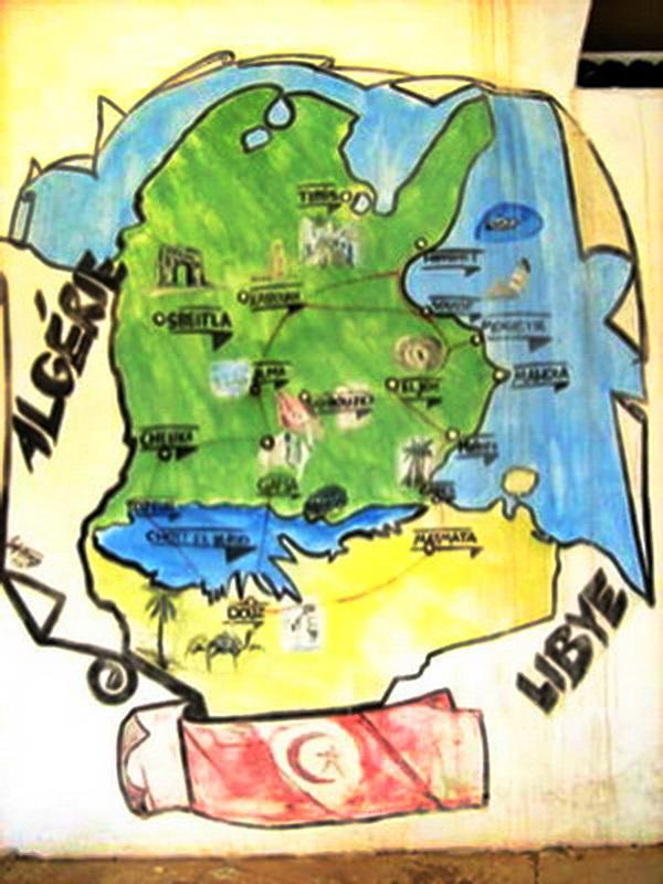 Mapa Tunisa
