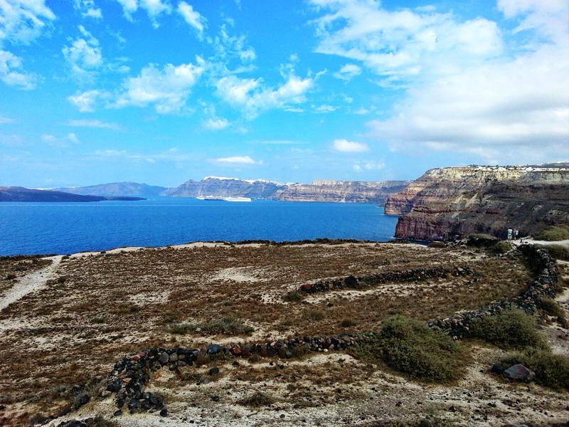 Kaldera na putu za Akrotiri