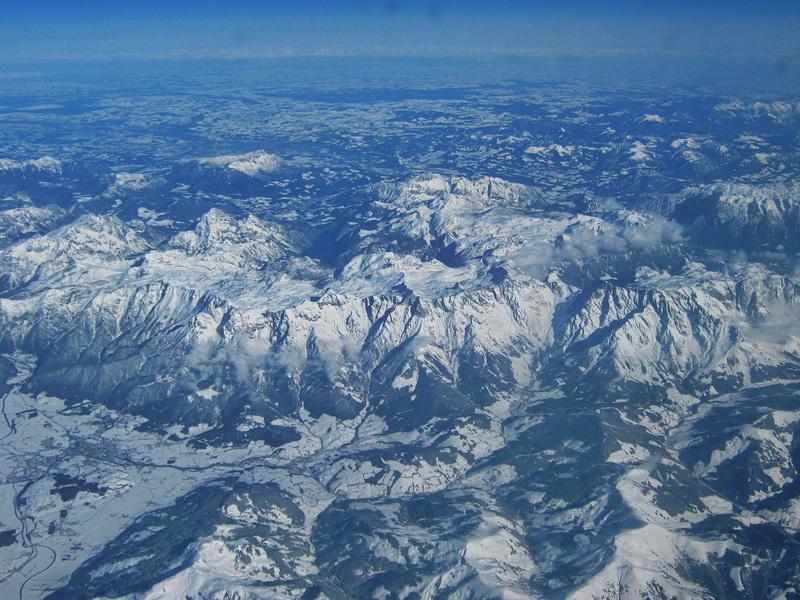 Alpi iz aviona na letu Beograd London