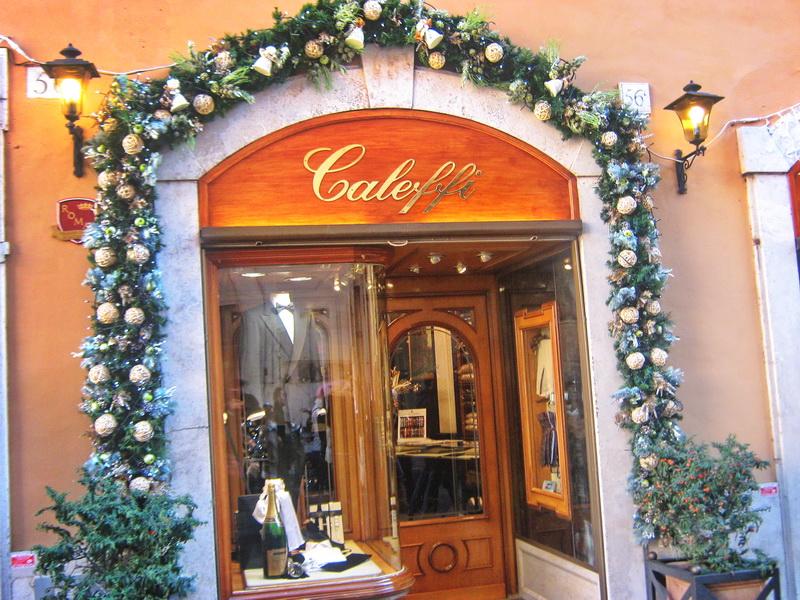 Rimske prodavnice novogodišnja dekoracija