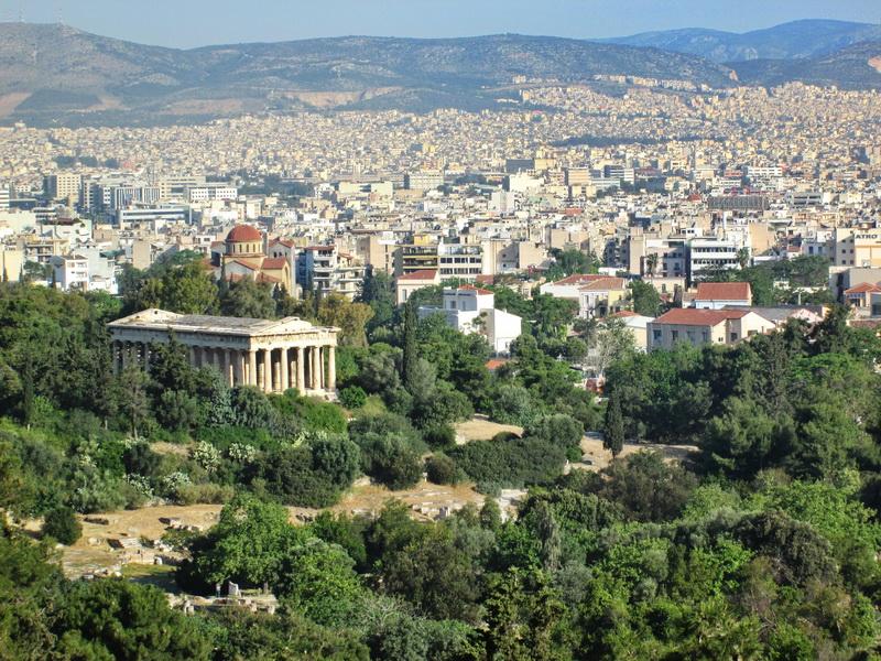 Atina pogled sa Akropolja